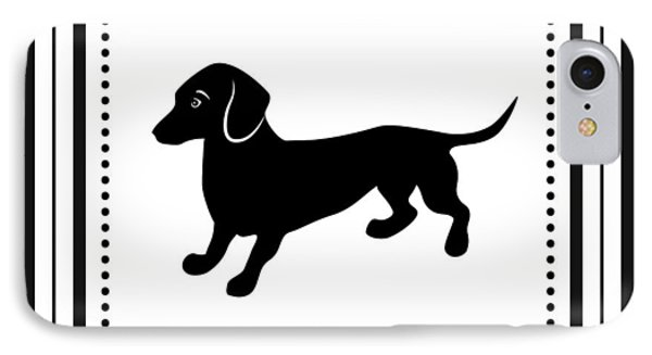 Retro Dachshund IPhone Case by Antique Images