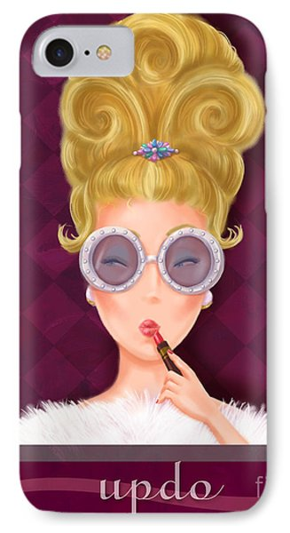 Retro Hairdos-updo IPhone Case by Shari Warren