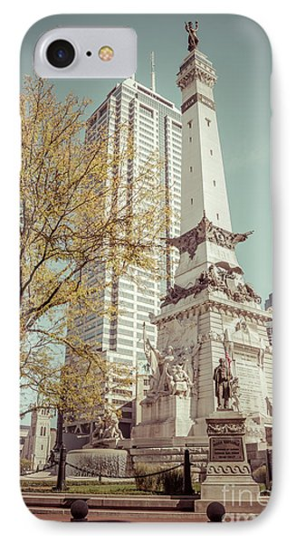Retro Picture Of Indianapolis Soldiers And Sailors Monument  IPhone Case by Paul Velgos