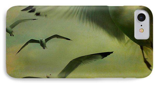 Retro Seagulls IPhone Case by Gothicrow Images