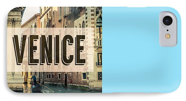 Retro Venice Grand Canal Poster IPhone Case by Mr Doomits