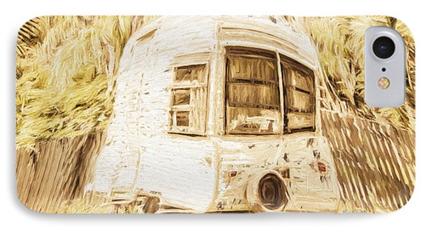 Retrod The Comic Caravan IPhone Case by Jorgo Photography - Wall Art Gallery