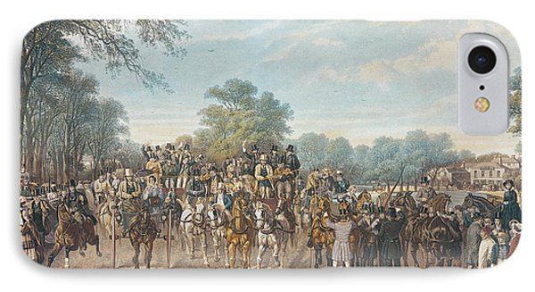 Return From The Derby, 1862 IPhone Case by John Frederick Herring Snr
