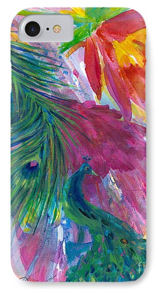 Return Of The Peacocks IPhone Case by Denise Hoag