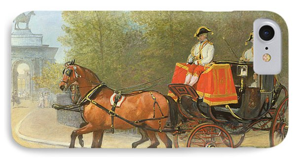 Returning From Her Majestys Drawing Room IPhone 7 Case by Alfred Corbould