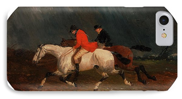 Returning From The Hunt The Return From The Hunt IPhone Case by Litz Collection