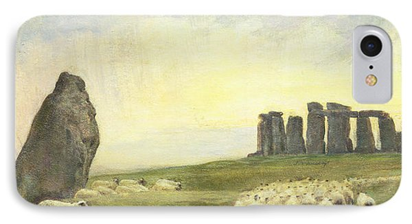Returning Home     Stonehenge IPhone Case by Edgar Barclay