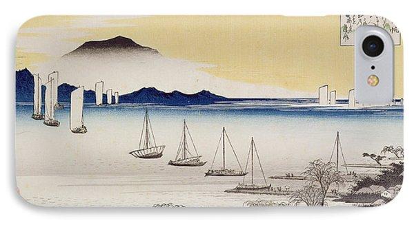 Returning Sails At Yabase Phone Case by Hiroshige