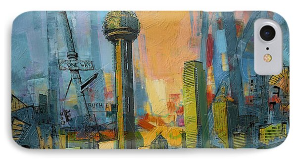Reunion Tower IPhone Case by Corporate Art Task Force
