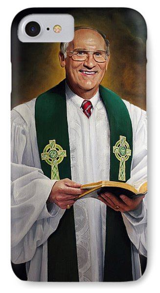IPhone Case featuring the painting Rev Fred Hausten by Glenn Beasley