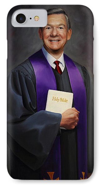 IPhone Case featuring the painting Rev Jack Wilson by Glenn Beasley
