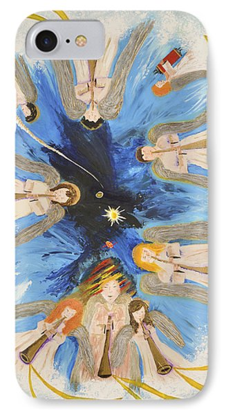 IPhone Case featuring the painting Revelation 8-11 by Cassie Sears