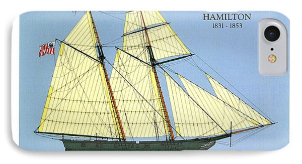 Revenue Cutter Alexander Hamilton IPhone Case by Jerry McElroy - Public Domain Image