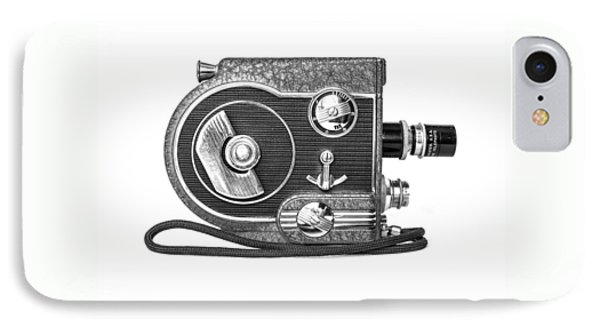 Revere 8 Movie Camera IPhone Case by Jon Woodhams