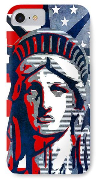 Reversing Liberty 1 Phone Case by Angelina Vick