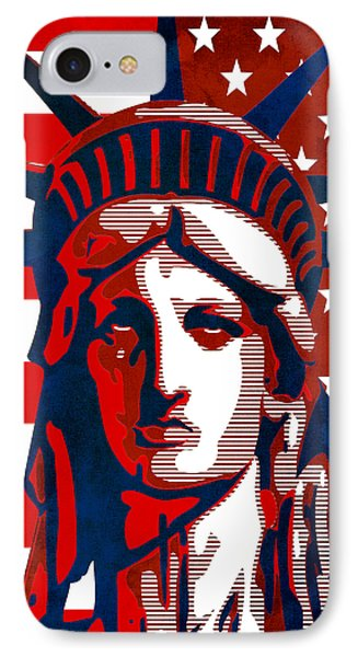 Reversing Liberty 2 Phone Case by Angelina Vick