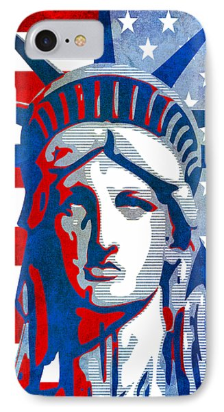 Reversing Liberty 3 Phone Case by Angelina Vick