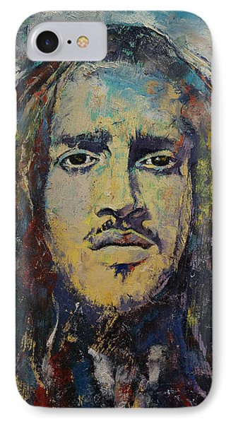 John Frusciante IPhone Case by Michael Creese