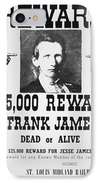 Reward Poster For Frank James IPhone Case