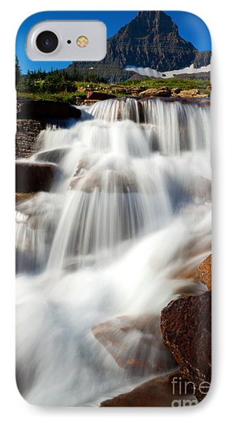 IPhone Case featuring the photograph Reynolds Peak Waterfall by Aaron Whittemore