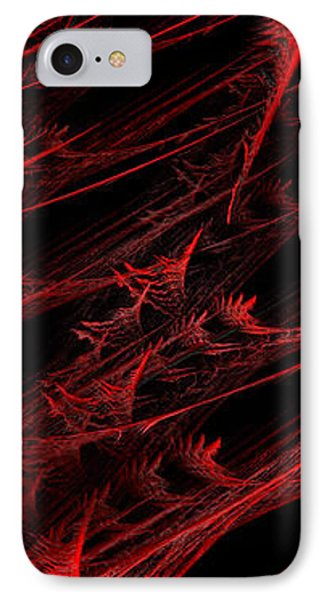 Rhapsody In Red V - Panorama - Abstract - Fractal Art Phone Case by Andee Design