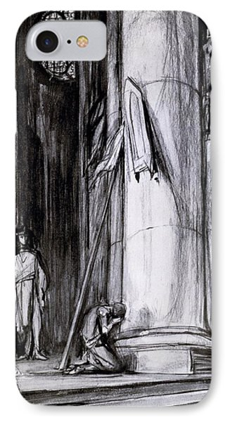 Rheims Cathedral, Scene From St Joan IPhone Case
