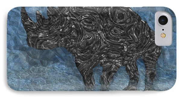 Rhino 5 Phone Case by Jack Zulli