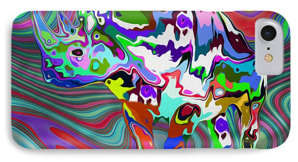 Rhino - Abstract 2 IPhone Case by Jack Zulli
