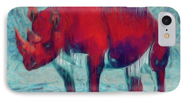 Rhino Phone Case by Jack Zulli