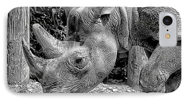 IPhone Case featuring the photograph Rhino Portrait by Beth Akerman