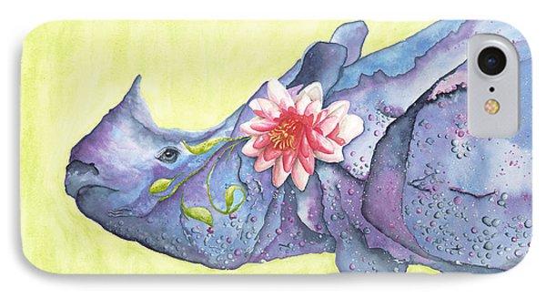 Rhino Whimsy Phone Case by Mary Ann Bobko