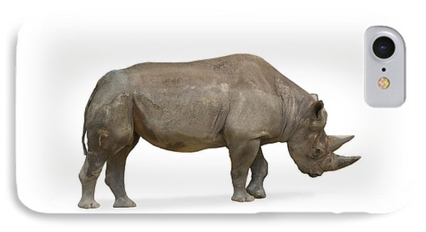 IPhone Case featuring the photograph Rhinoceros by Charles Beeler