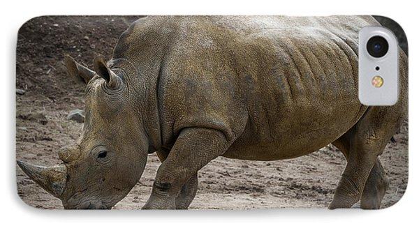 Rhinoceros Phone Case by Svetlana Sewell