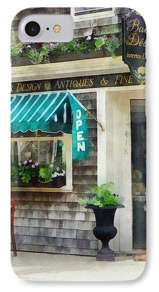 Rhode Island - Antique Shop Newport Ri Phone Case by Susan Savad