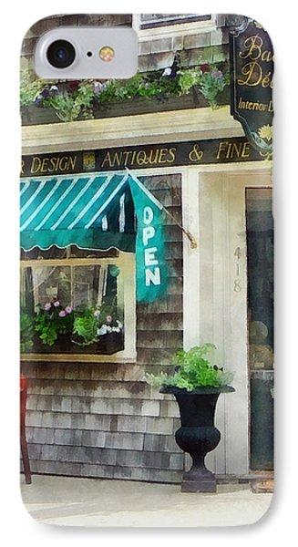 Rhode Island - Antique Shop Newport Ri IPhone Case by Susan Savad
