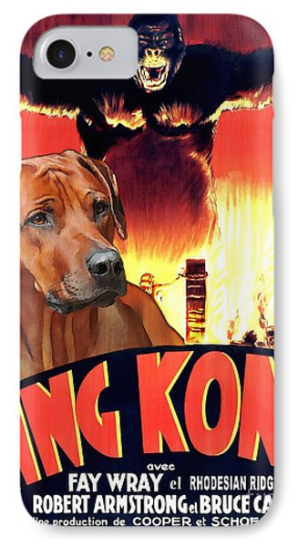 Rhodesian Ridgeback Art Canvas Print - King Kong Movie Poster IPhone Case by Sandra Sij