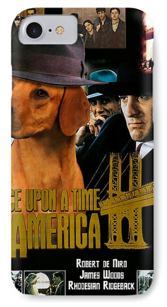 Rhodesian Ridgeback Art Canvas Print - Once Upon A Time In America Movie Poster IPhone Case