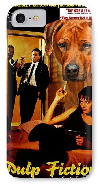 Rhodesian Ridgeback Art Canvas Print - Pulp Fiction Movie Poster IPhone Case