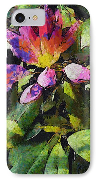Rhododendron Explosion IPhone Case by Spyder Webb