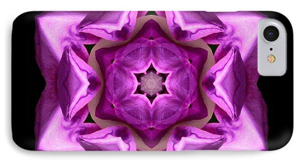 Rhododendron Ponticum Roseum I Flower Mandala IPhone Case
