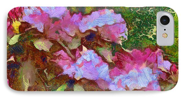 IPhone Case featuring the digital art Rhododendron Splash by Spyder Webb