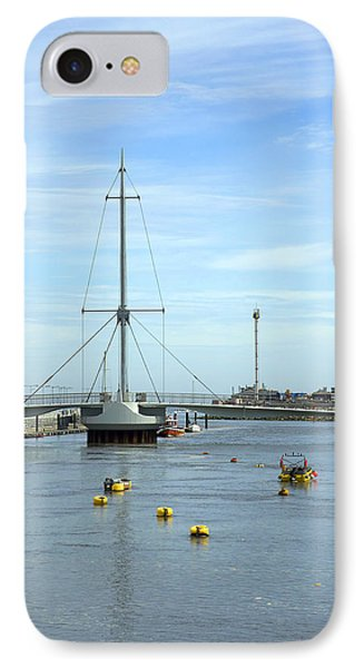 Rhyl Harbour Phone Case by Christopher Rowlands