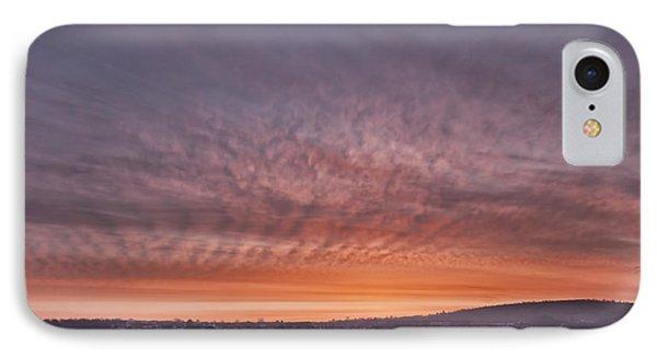 Rhymney Valley Sunrise Phone Case by Steve Purnell