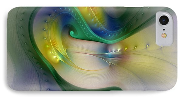 Rhythm Of Life-abstract Fractal Art IPhone Case