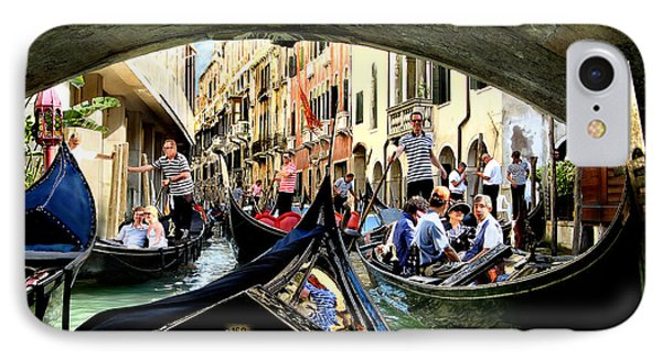 Rhythm Of Venice IPhone Case by Jennie Breeze