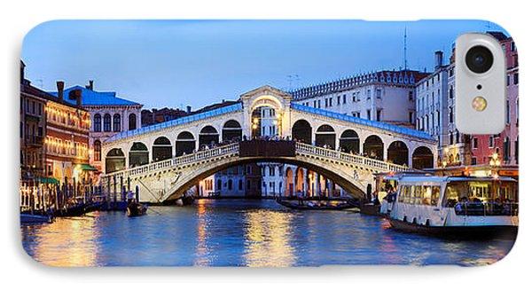 Rialto Bridge At Night Venice Italy IPhone Case by Matteo Colombo