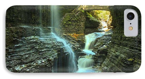 Rainbow Falls Watkins Glen IPhone Case by Adam Jewell