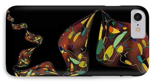 IPhone Case featuring the digital art Ribbon Bubbles by Constance Krejci