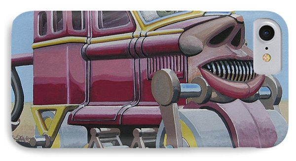 Rice Krispy To Asphalt Conversion Vehicle IPhone Case by John Houseman
