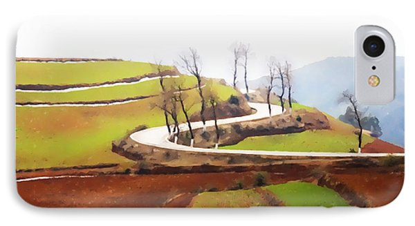 Rice Terraces Of Yuanyang 4 IPhone Case by Lanjee Chee